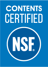 Logo: Contents certified NSF