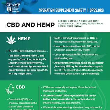 Thumbnail of CBD and Hemp infosheet