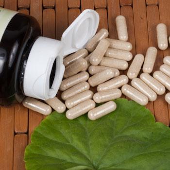 Ginkgo biloba supplement