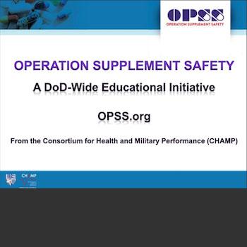 OPSS short presentation slides for Warfighters