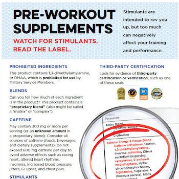 Pre-workout information
