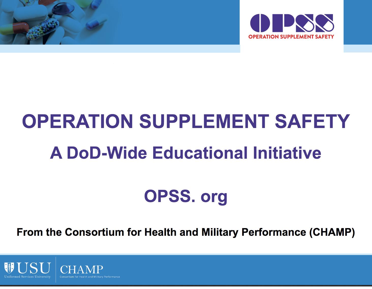 OPSS short presentation slides for providers & leaders