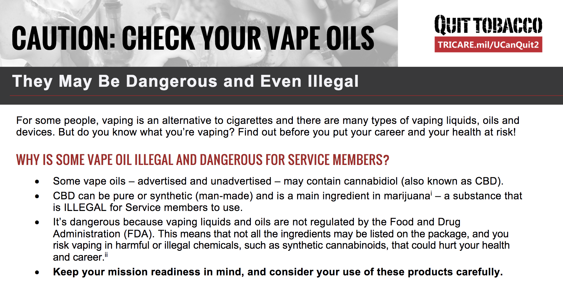 UCanQuit2 fact sheet on CBD and vape oils