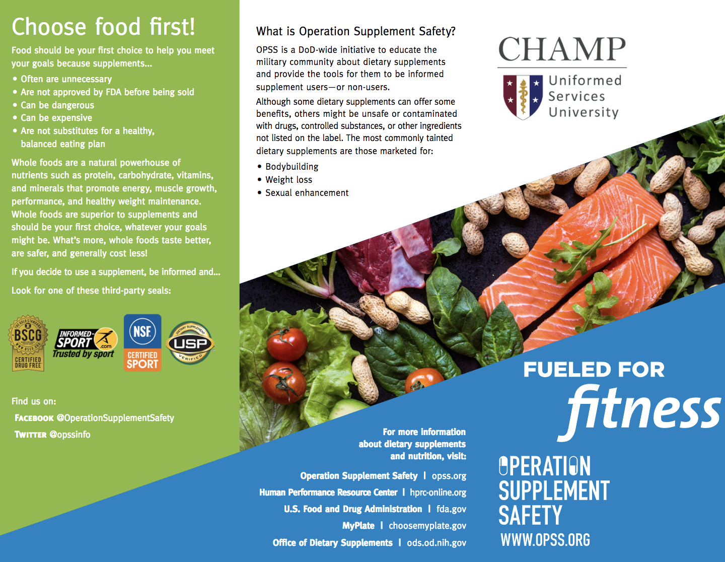 OPSS: Fueled for Fitness brochure, 8.5x11