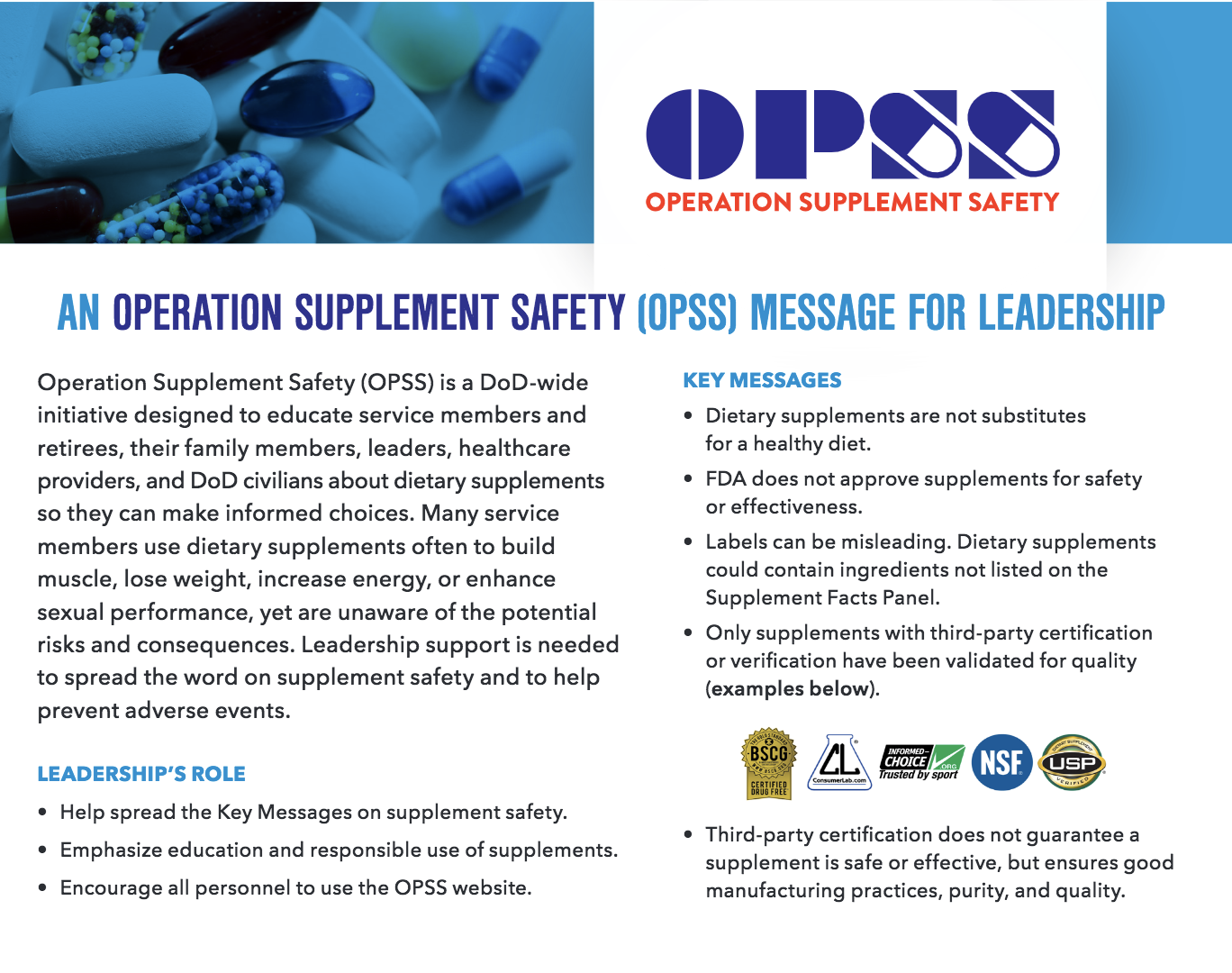 OPSS Overview for Leadership Postcard