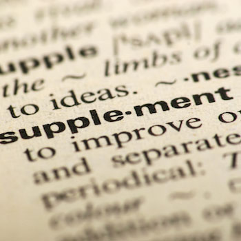 Dictionary entry for supplement