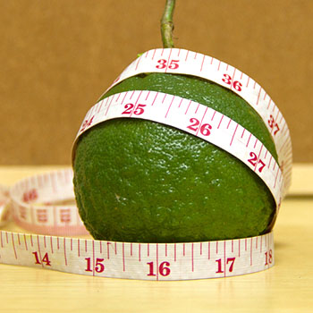 Synephrine image of bitter orange with tape measure