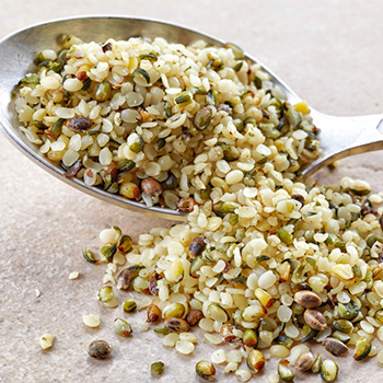 Hemp seeds photo