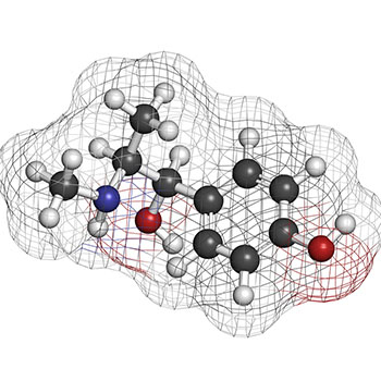 Methylsynephrine molecule